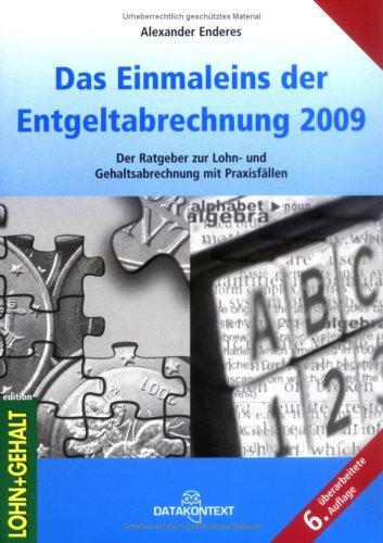 Einmaleins der Entgeltabrechnung 2009