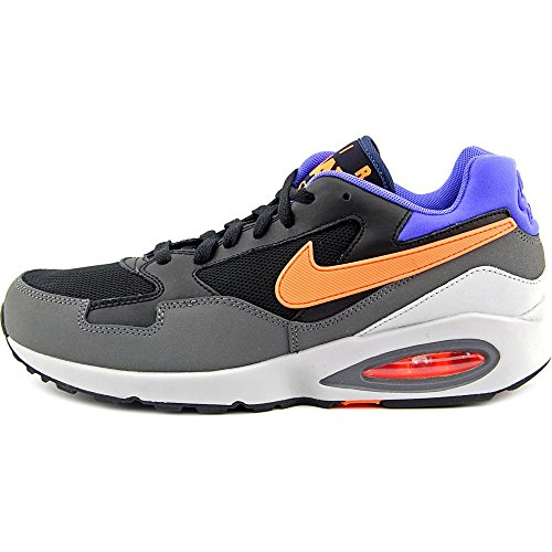 Nike Men's Air Max St Black/Hyper Crimson/Dark Grey Ankle-High Leather Running Shoe - 12M Black/Hyper Crimson-dark Grey cheap sale shop 812kQ6KE6x