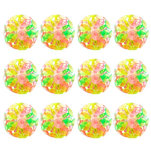 Toyvian 12PCS Suction Cup Ball Toy Parent-Child Interaction Sucker Ball Kids Plaything Party Toy for Children