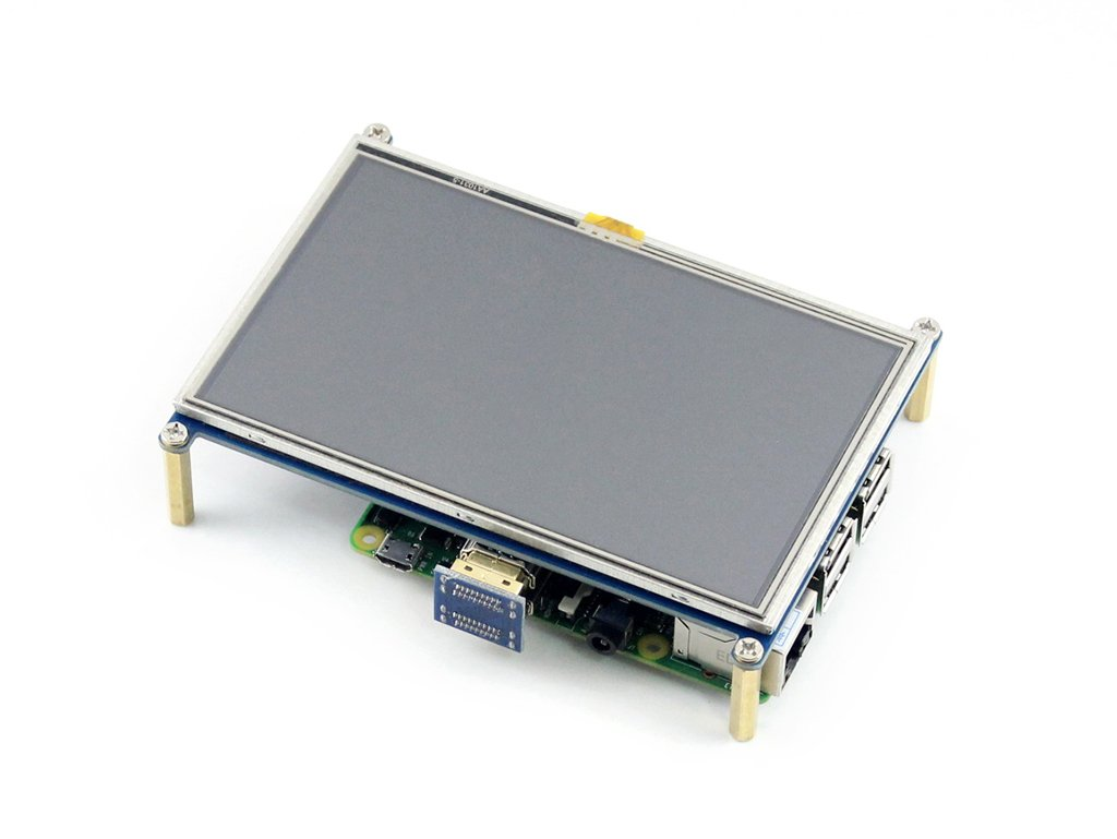 5inch HDMI LCD, 800×480,Resistive Touch Screen LCD,HDMI interface,Designed for Raspberry Pi by waveshare