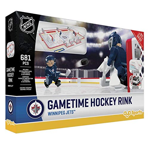 (OYO NHL Winnipeg Jets Full Rink Set, Small, Black)