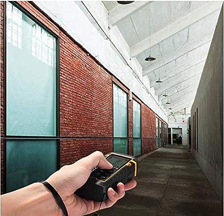 Laser Distance M/ètre 40/m 40/m//39,9/m portable Poign/ée Outil de mesure T/él/ém/ètre num/érique avec niveau /à bulle et grand /écran LCD r/étro/éclair/é 4/Line