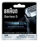 Braun Shaver Heads 8000 - Braun Series 5 Combi 51s Foil And Cutter Replacement Pack by Braun