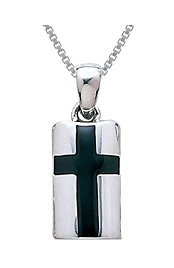 Amazon jewelry trends sterling silver celtic cross pendant jewelry trends sterling silver celtic cross pendant necklace 18quot created black onyx aloadofball Choice Image