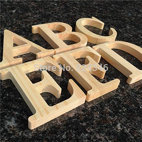 ZANAN Figurines & Miniatures - Wholesale 10cm High Wood Wooden Letters A to Z Alphabet Birthday Gift Bridal Wedding Party Home Decorations Freestaning Letter 1 PCs