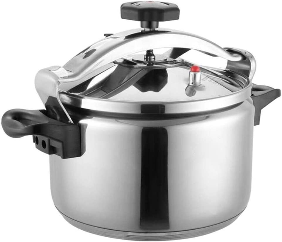 Pressure cooker stainless steel commercial large-capacity restaurant home kitchen gas induction cooker general pressure cooker 5-40L (Color : Silver, Size : 20L)