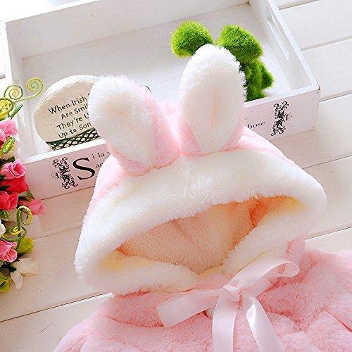 EGELEXY Baby Girl Fur Winter Warm Coat Cloak Jacket Thick Warm Clothes 18-24Months Pink
