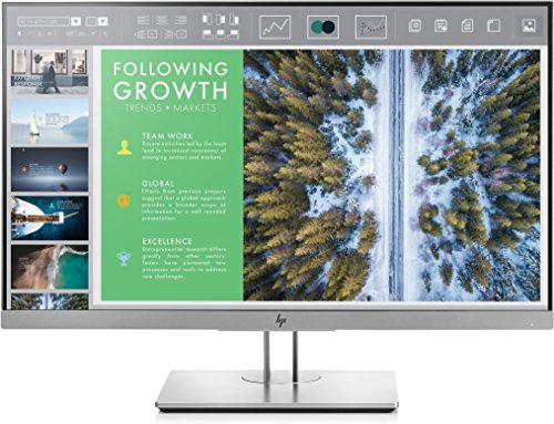 HP EliteDisplay 23.8-Inch Screen LED-Lit Monitor Silver (1FH47A8#ABA)