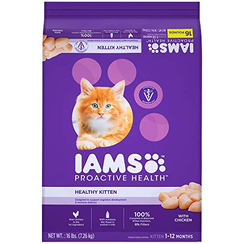 Iams Proactive Health Healthy Kitten Dry Cat Food With Chicken, 16 Lb. Bag