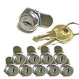 Cam Lock 10pcs/lot Stainless Face 8.5mm Mini Lock for Cabinet Drawer Box Keyed Alike 1002XS