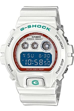 Casio DW-6900SN-7E - Reloj digital de cuarzo para hombre, correa de resina color blanco: Amazon.es: Relojes