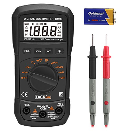 Digital Ohm Meter : Digital multimeter tacklife dm auto ranging electronic