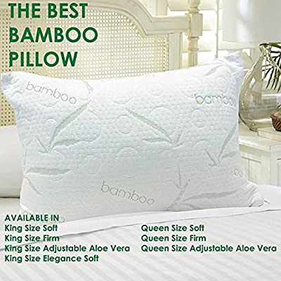 Amazon Com The Best Bamboo Pillow King Firm Home Kitchen