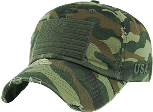 f837c858930 KBETHOS Tactical Operator Collection with USA Flag Patch US Army Military  Cap Fashion Trucker Twill Mesh