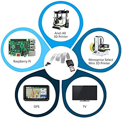 TF Micro SD a la tarjeta,LANMU Adaptador de Cable de Expansión de ...