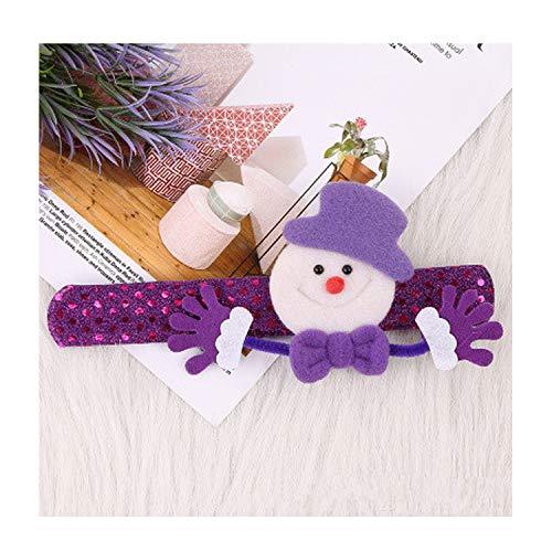 Memoirs-Xmas gift 12 Pcs Christmas Patting Circle Bracelet Watch Santa Claus Snowman Deer New Year Party Toy Wrist Decoration,Snowman