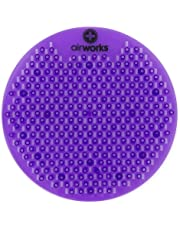 "AirWorks WSFUS236-BX Awsfus236-Bx Splash Free Urinal Screen, Lavender Meadow, Light 0.22 lb, 8"" Height, 6"" Width, Purple (Pack of 10)"