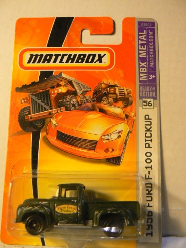 Matchbox MBX Metal #56 1956 Ford F-100 Pickup Green with Black Wheels (Ford F100 Pickup 56)