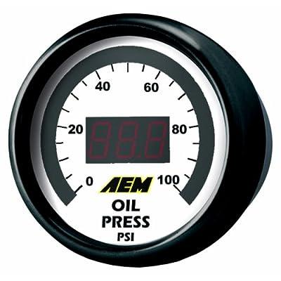 AEM 30-4401 0-100 PSI Oil or Fuel Pressure Gauge: Automotive