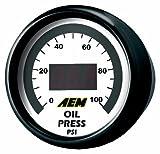 AEM 30-4401 0-100 PSI Oil or Fuel Pressure Gauge