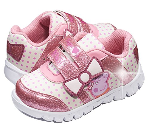 Peppa Pig Kids Toddler Girls Pink White Sneakers