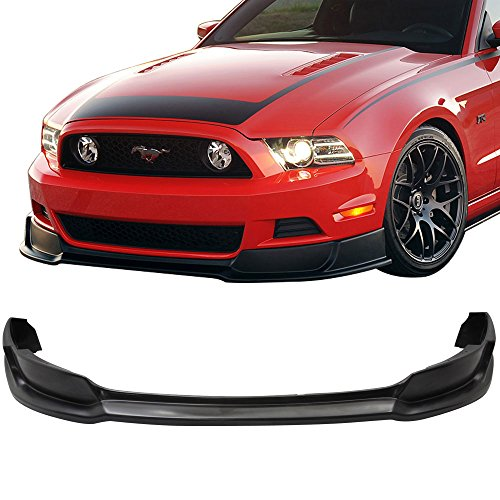 Front Bumper Lip Fits 2013-2014 FORD MUSTANG V6 & GT WILL NOT FIT GT500 | PU Front Lip Spoiler Splitter by IKON MOTORSPORTS