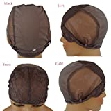 Nobel Hair Wig Caps for Making Wig with Adjustable Sturdy Straps Swiss Lace Medium Brown Color Foundation Wigs Cap(Medium Size)