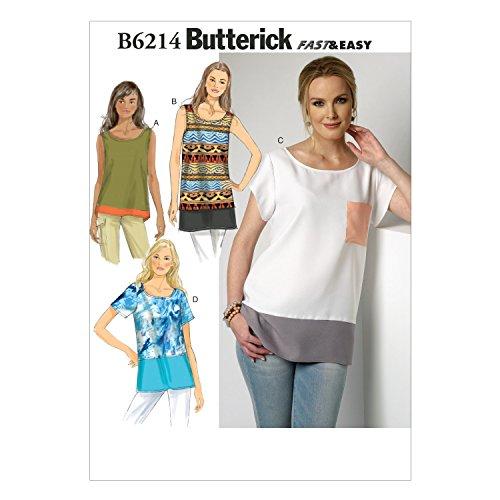 BUTTERICK PATTERNS B6214ZZ0 Misses Top, ZZ (LRG-XLG-XXL) from BUTTERICK PATTERNS