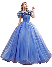 Women's Princess Costume Butterfly Off Shoulder Cinderella Prom Dress Long Tulle Quinceanera Ball Gown