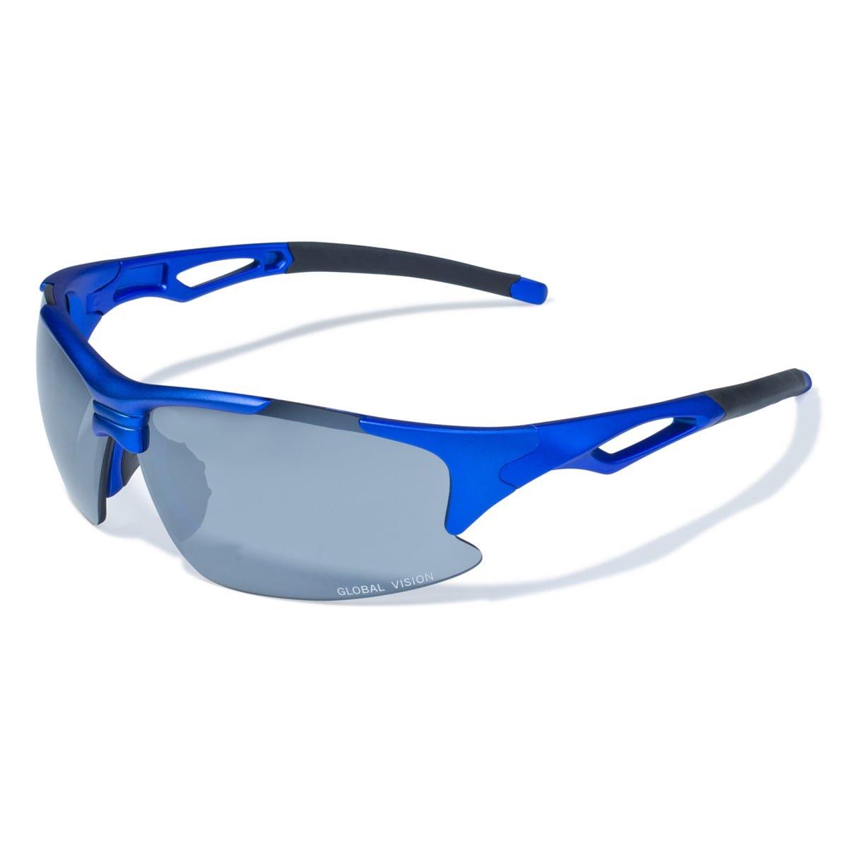 c303fe5221 Amazon.com  Global Vision Eyewear Men s  Friday  Blue Lens Sport Sunglasses   Clothing