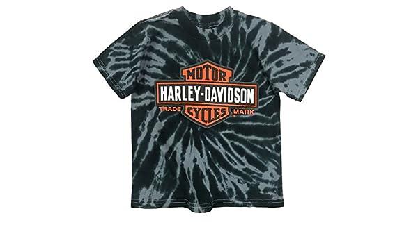 948d420c Amazon.com: Harley-Davidson Big Boys' Bar & Shield Swirl Tie-Die T-Shirt,  Black 1590735: Harley-Davidson: Clothing