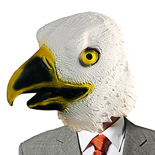 XIAO MO GU Latex Halloween Costume Mask Decorations Animal Head Mask Bald Eagle