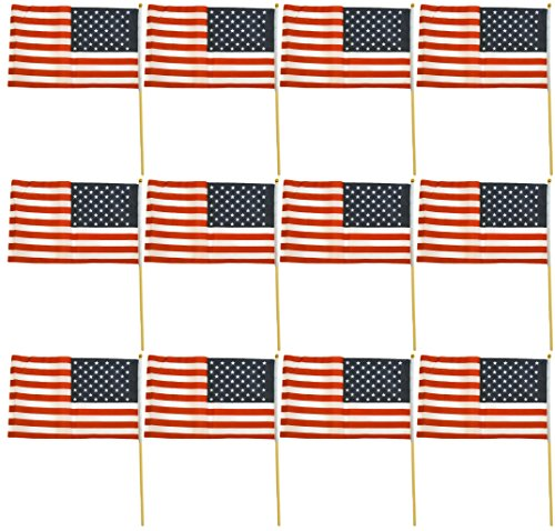 Black Duck Brand Set of 12 American Flag Posts, 12