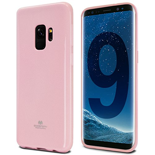 Galaxy S9 Case, [Thin Slim] GOOSPERY [Flexible] Pearl Jelly Rubber TPU Case [Lightweight] Bumper Cover [Impact Resistant] for Samsung Galaxy S9 (Pink) ()