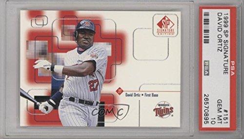 David Ortiz Graded PSA 10 GEM MT (Baseball Card) 1999 SP Signature Edition - [Base] (1999 Sp Signature Edition)