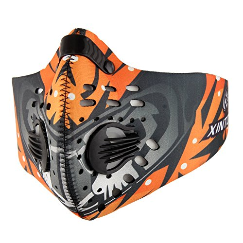 LALATECH Outdoor Sporting Riding Activated Carbon Mask Activated Carbon Filtration Dust Mask Training Cycling Half Face Mask filter Dust for Men and Women (Colorful ()