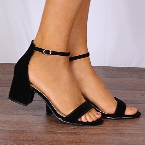 Bas Peine À Placard Chaussures Orteils Dames Peep Noires À À Sandales Strappy Talons Noires Là wq0Xwx5