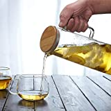 Glass Pitcher with Bamboo Lid - High Heat
