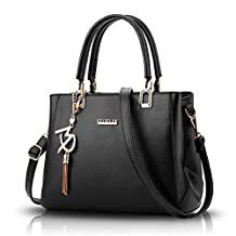 Sunas 2017 new female bag simple fashion handbag shoulder bag Oblique package pendant PU soft big bag
