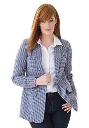 Jessica-London-Womens-Plus-Size-Wool-Houndstooth-Blazer