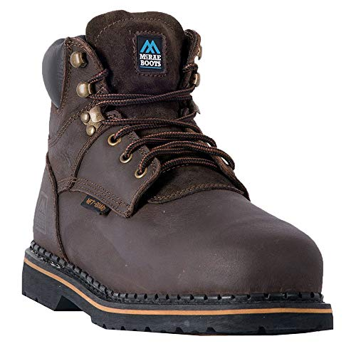 MR86734 McRae Men's Internal Met Guard Safety Boots - Dark Brown - 9.5 - W