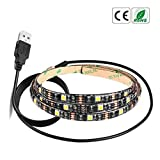 WARMSHOP Fashion 5V 5050 60SMD/M RGB LED Strip Light Bar TV Back Lighting Kit+USB Remote Control