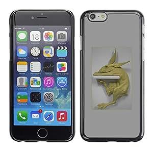 Shell-Star Arte & diseño plástico duro Fundas Cover Cubre Hard Case Cover para Apple iPhone 6(4.7 inches) ( Rabbit Statue Art Figure Modern Animal Testing )