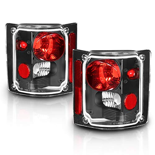 AmeriLite Black Euro Tail Lights for Chevy Full Size - Passenger and Driver Side