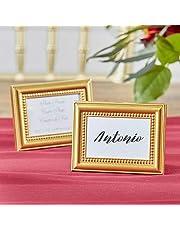 Beautifully Beaded Gold Photo Frame/Place Holder