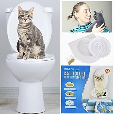 Sistema de entrenamiento de gatos para uso de asiento del inodoro ...