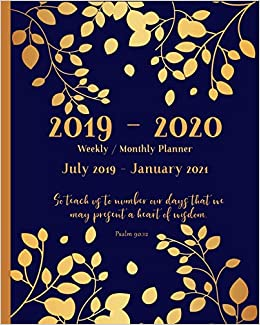 Amazon.com: 2019 - 2020 Weekly and Monthly Planner | July ...