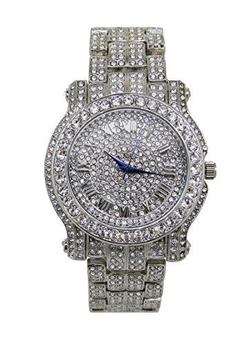The Ultimate Silver Iced Out Hip Hop Bling Bling Watch - L0504 Silver (Ultimate Bling)