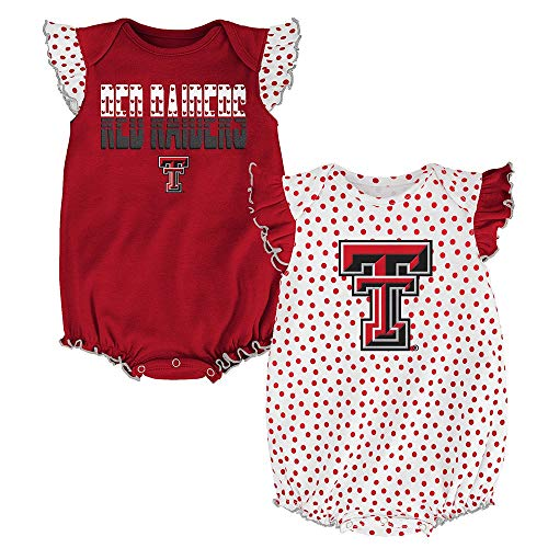 Outerstuff Texas Tech Red Raiders NCAA Infant Red/White Polka Fan 2 Piece Creeper - Texas 2 Piece Tech