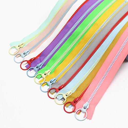 "YaHoGa 20PCS 8 Inch (20CM) 5# Plastic Zippers Close End Resin Zippers Vislon Zippers for DIY Sewing Craft Bags Garment (8"" 20pcs)"